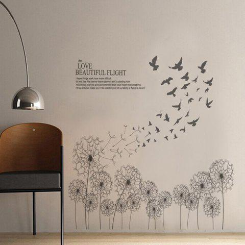 Latest Dandelion Removable Home Decor Wall Stickers - GRAY  Mobile