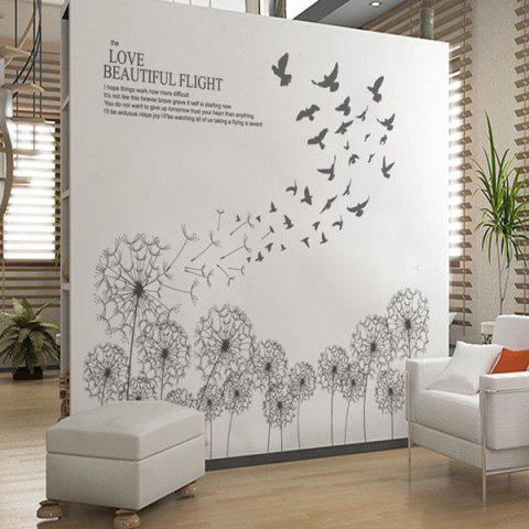 Affordable Dandelion Removable Home Decor Wall Stickers - GRAY  Mobile