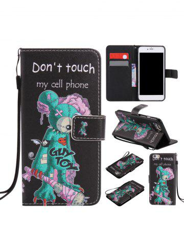 Online PU Leather One Eye Cartoon Mouse Colored Drawing Phone Case For iPhone - FOR IPHONE 6 / 6S BLACK Mobile