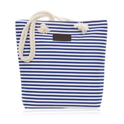 Latest Canvas Striped Beach Bag