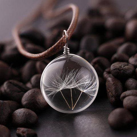 Chic Glass Ball Dandelions Necklace - TRANSPARENT  Mobile