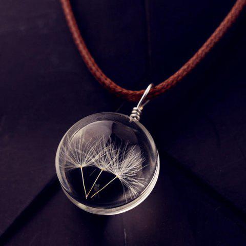 Store Glass Ball Dandelions Necklace - TRANSPARENT  Mobile