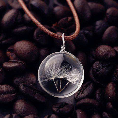 Outfit Glass Ball Dandelions Necklace - TRANSPARENT  Mobile