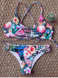 Braided Tie Back Floral Bikini