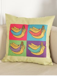 Banana Print Chair Backrest Throw Linen Pillowcase - PALOMINO