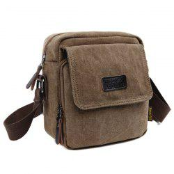 Canvas Small Shoulder Bag - COFFEE