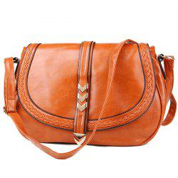 Braid Faux Leather Crossbody Bag