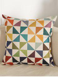 Geometry Pattern Sofa Bed Throw Linen Pillow Case - COLORMIX
