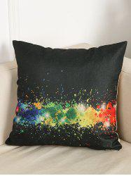 Paint Splatter Linen Throw Home Decor Pillowcase - BLACK