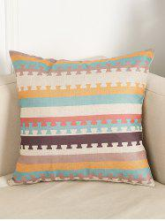 Stripe Pattern Linen Throw Home Decor Pillowcase