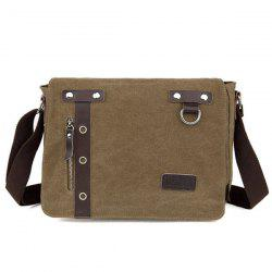 Eyelets Canvas Messenger Bag