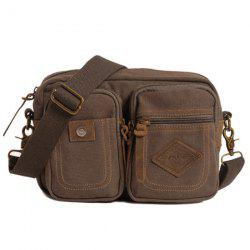 Canvas Convertible Crossbody Bag - COFFEE