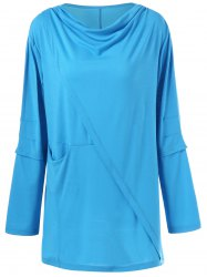 Draped Pleated Plus Size Tunic Top