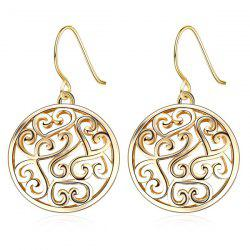 Filagree Round Drop Earrings