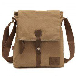 Flap PU Panel Messenger Bag