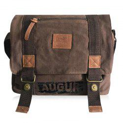 Canvas Graphic Printed Messenger Bag
