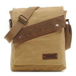 Canvas Flapped Messenger Bag