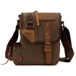 Buckle Straps Canvas Messenger Bag