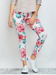 Floral Ankle Length Leggings - FLORAL