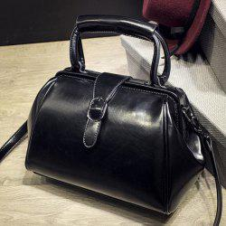 Work Faux Leather Buckle Strap Handbag
