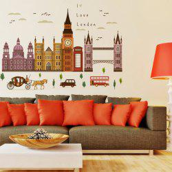 London Big Ben Removable Wall Stickers For Bedroom