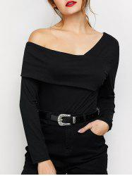 Fold Over Long Sleeve Bodysuit -