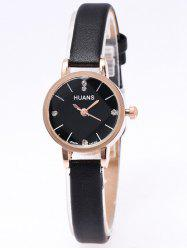 PU Leather Rhinestone Watch