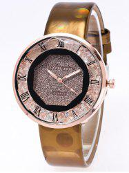 PU Leather Roman Numerals Watch