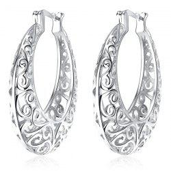 Statement Hollow Out Hoop Earrings -