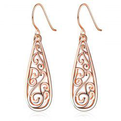Tear Drop Hollow Out Drop Earrings