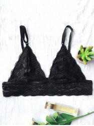 Unlined Lace Plunge Triangle Bra Outfit No Wire