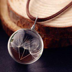 Glass Ball Dandelions Necklace - TRANSPARENT