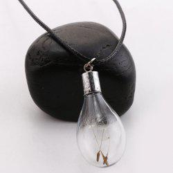 Glass Bulb Dandelion Pendant Necklace