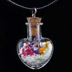 Heart Heady Glass Bottle Pendant Necklace