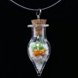 Tapered Glass Bottle Necklace