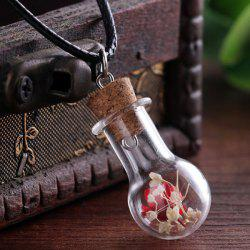 Dried Flower Glass Bottle Necklace