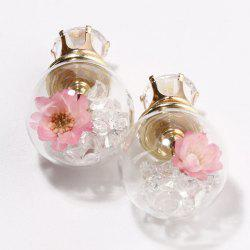 Double End Glass Ball Earrings