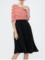 Striped A Line Swing Dress