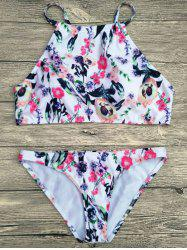 High Neck Cami Floral Bikini Set