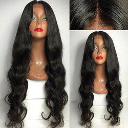 Long Body Wave Middle Part Synthetic Lace Front Wig -