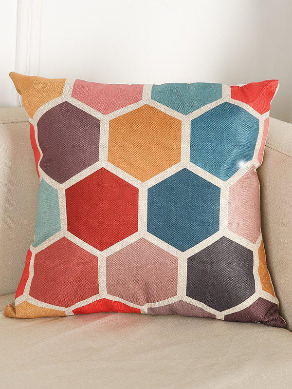 Trendy Geometry Pattern Linen Cushion Throw Pillow Case