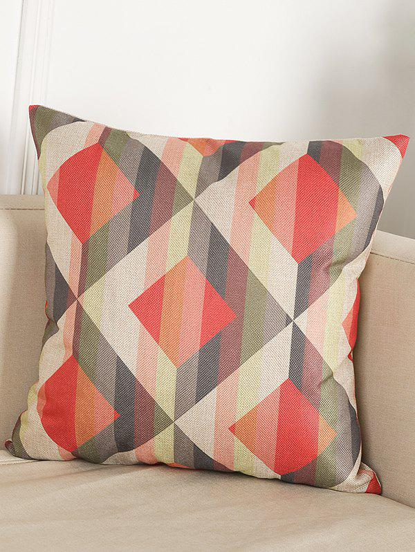 Buy Geometry Pattern Linen Throw Home Decor Pillowcase