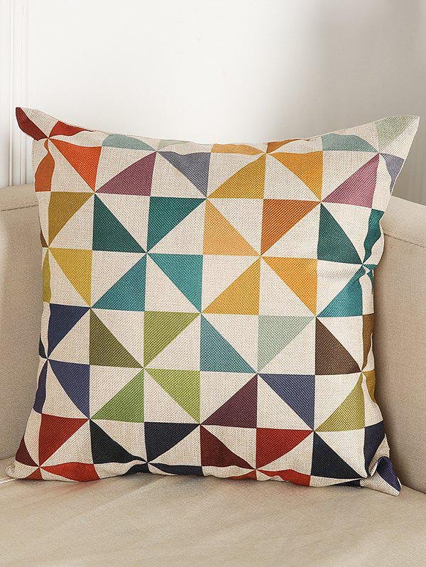 Geometry Pattern Sofa Bed Throw Linen Pillow CaseHOME<br><br>Color: COLORMIX; Material: Linen; Pattern: Geometric; Style: Modern/Contemporary; Shape: Square; Size(CM): 45*45; Weight: 0.110kg; Package Contents: 1 x Pillow Case;