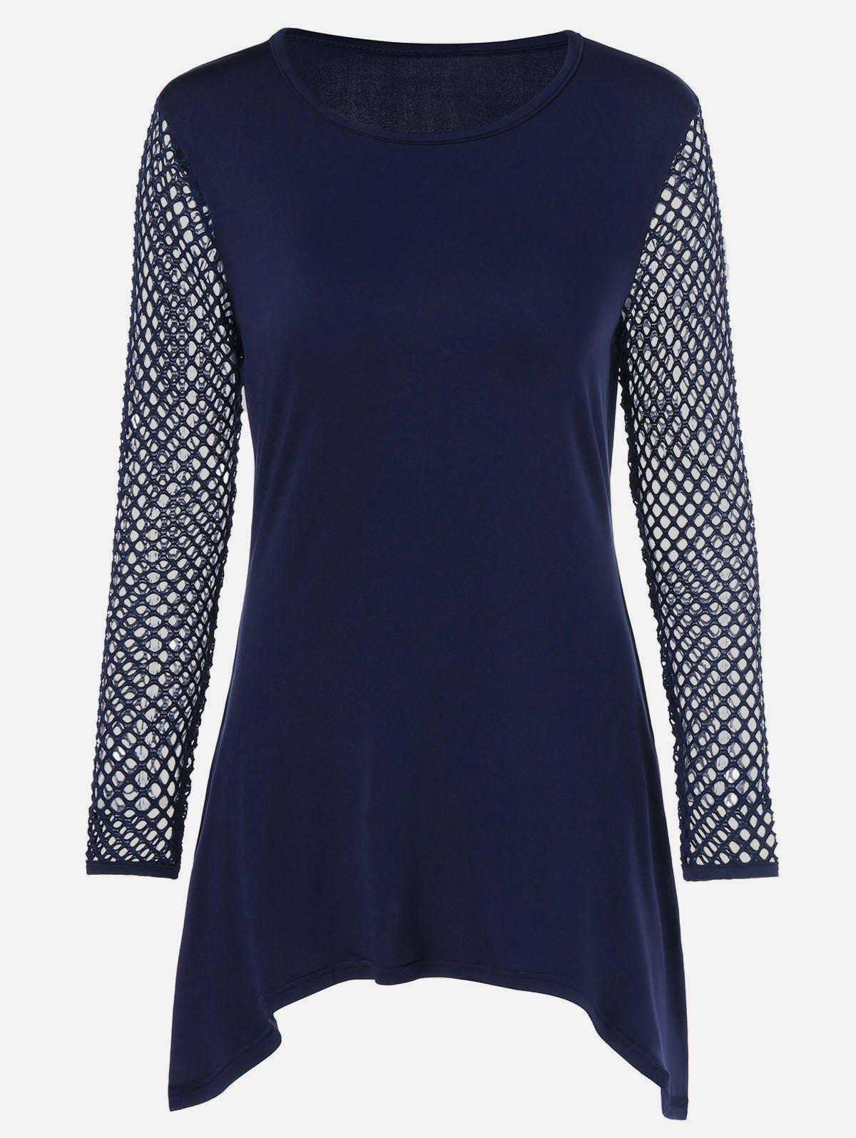 Best Openwork Asymmetric Tunic T-Shirt
