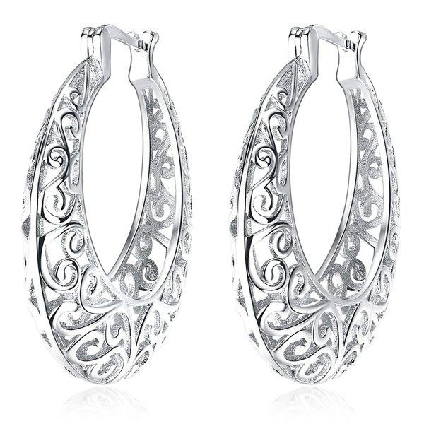 Outfits Statement Hollow Out Hoop Earrings