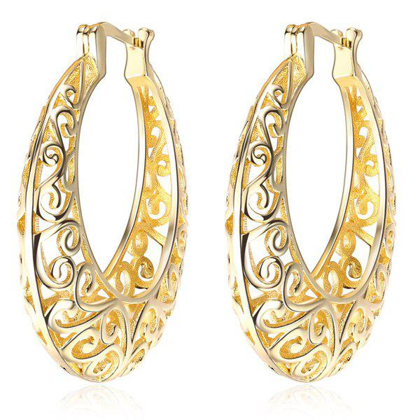 Store Statement Hollow Out Hoop Earrings