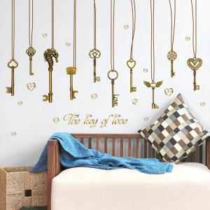 The Key of Love Pendant Removable PVC Wall Stickers - Bronze-colored - 40cm*60cm