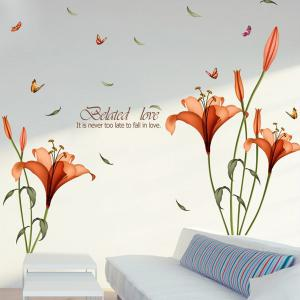 ... Removable Butterfly Flower Wall Stickers For Bedrooms ...
