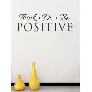 Think Quote Removable Wall Stickers For Living Room