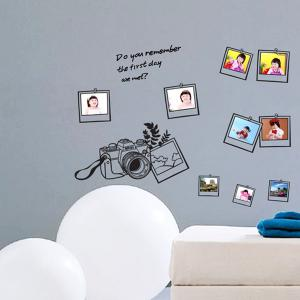 Photo Frame Decorative Personalised Vinyl Wall Stickers - BLACK